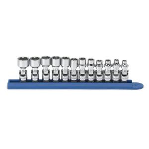 GearWrench 1/4 inch Drive 6-Point Metric Flex Socket Set (12-Piece) by GearWrench