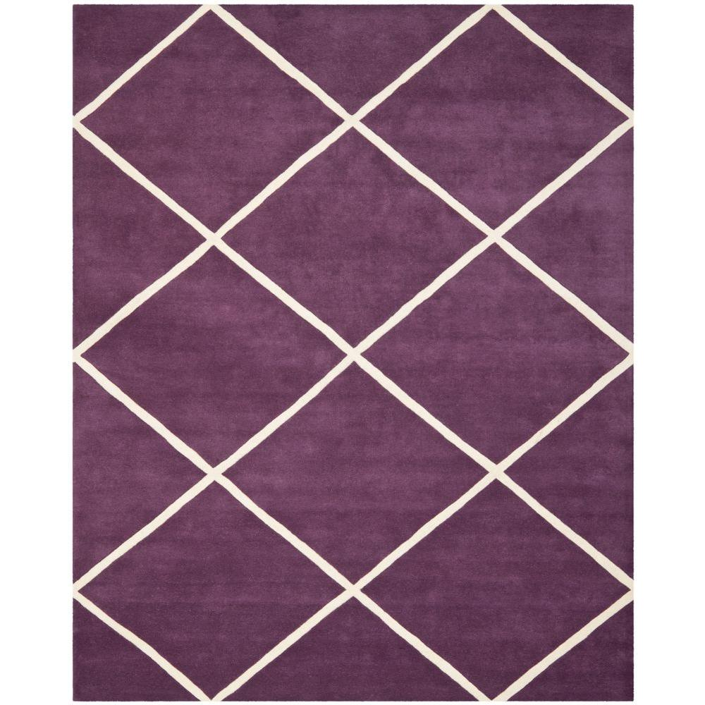 Safavieh Chatham Purple/Ivory 8 ft. x 10 ft. Area Rug