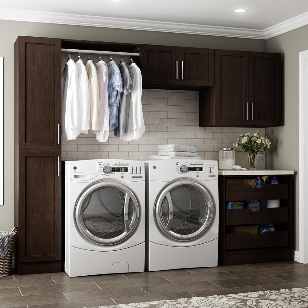 Madison 105 in. W Mocha Laundry Cabinet Kit