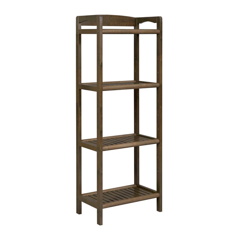New Ridge Home Goods Abingdon Antique Chestnut Tall Bookcase 2282-CHS