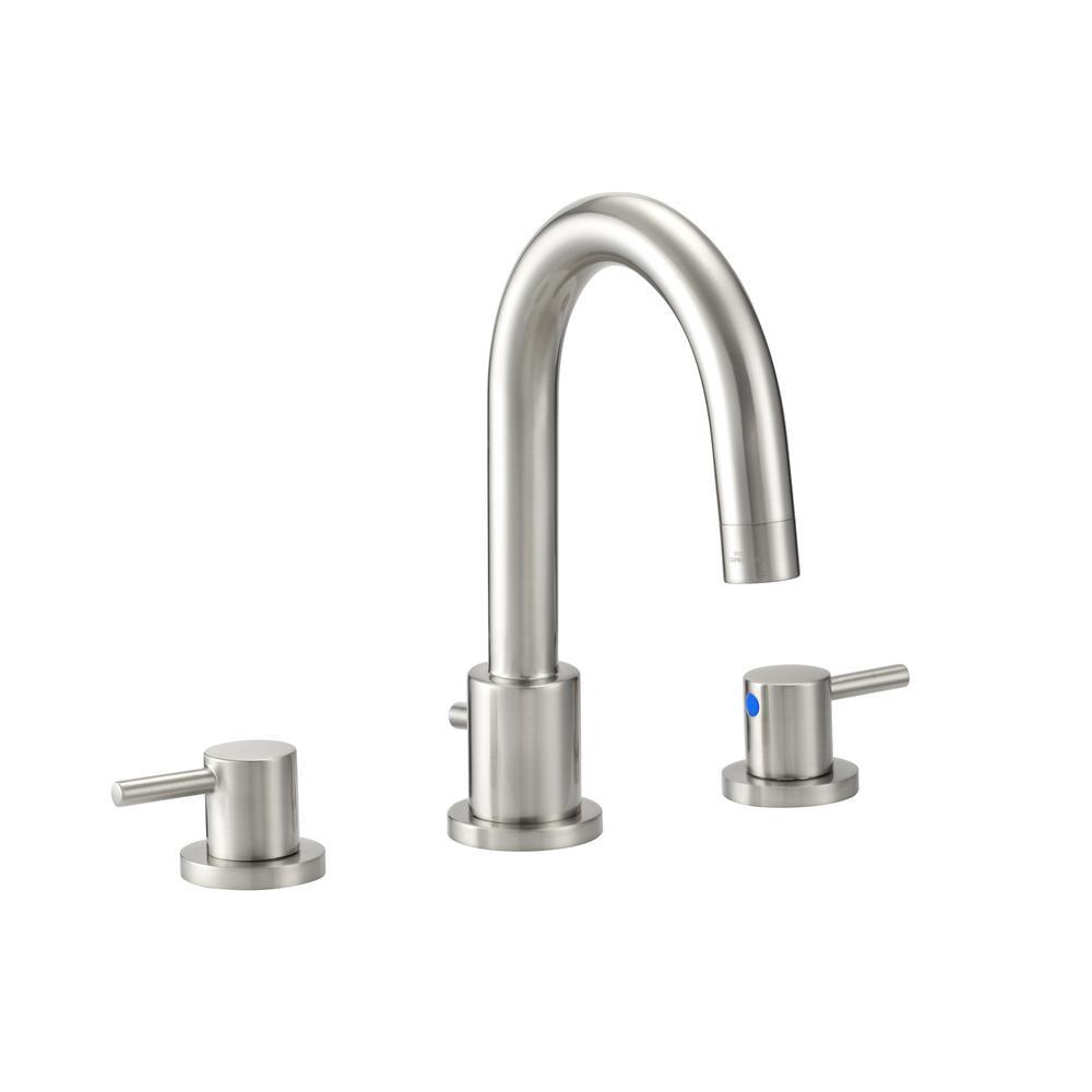 Design house eastport 8 in widespread 2 handle bathroom faucet in satin nickel 548289 the for Satin nickel widespread bathroom faucet
