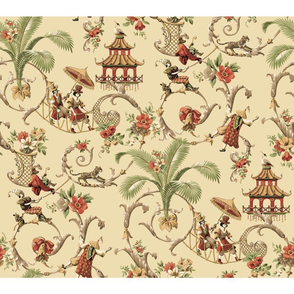 Waverly Classics Mandarin Prose Wallpaper