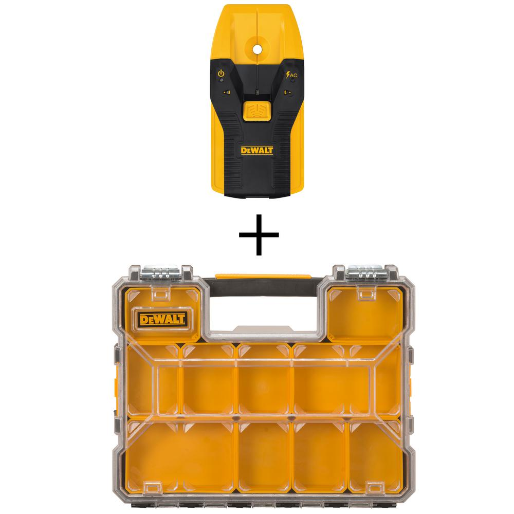 DEWALT 3/4 in. Stud Finder with Bonus 10-Compartment Shallow Pro Small Parts Organizer was $43.0 now $24.97 (42.0% off)