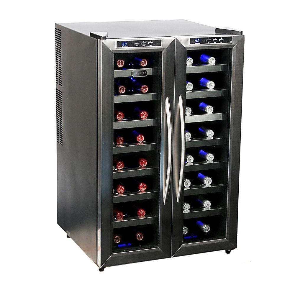 Whynter 32 bottle dual zone wine cooler wc 321dd the for Modern homes 8 bottle wine cooler