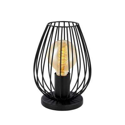 Newtown 9 in. Matte Black Table Lamp