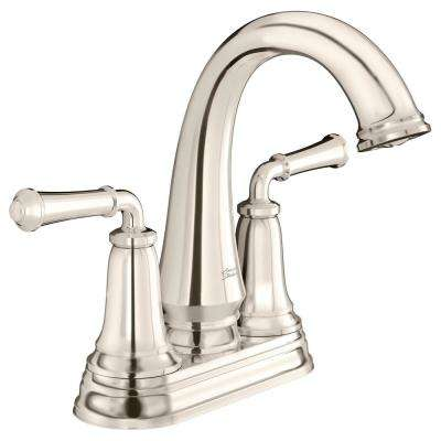 Delancey 4 in. Centerset 2-Handle Bathroom Faucet with Pop-Up Drain in Polished Nickel