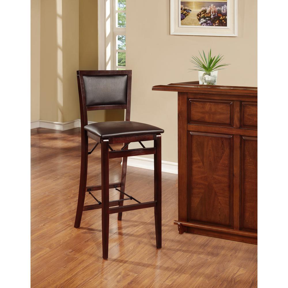 Wondrous Linon Home Decor Keira Espresso Folding Stool 01832Esp 01 As Inzonedesignstudio Interior Chair Design Inzonedesignstudiocom