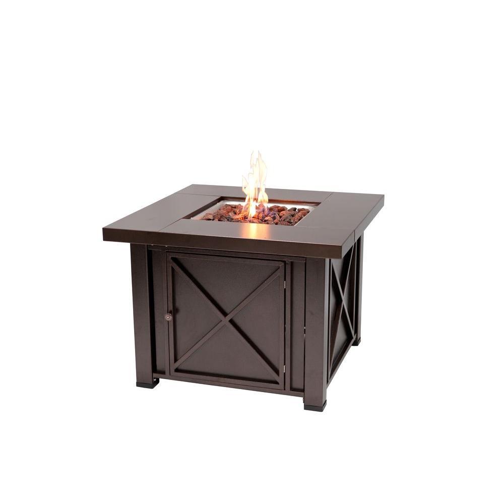 Fire Sense 38 in. X Design Propane Gas Fire Pit