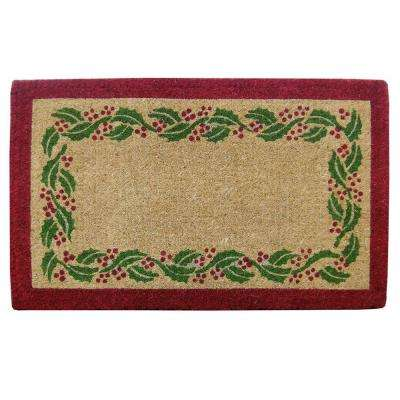Holly Ivory Tan 22 in. x 36 in. Coir Comfort Mat