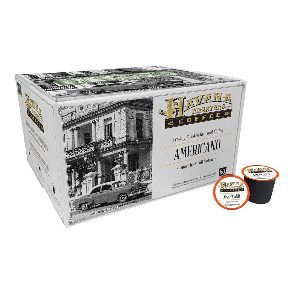 Americano 80 K-Cups Coffee (1-Box)