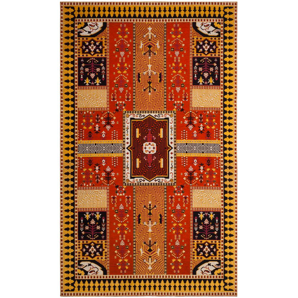 Classic Vintage Orange/Gold 4 ft. x 6 ft. Area Rug