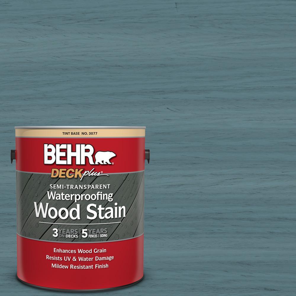 BEHR DECKplus 1 gal. #ST-113 Gettysburg Semi-Transparent Waterproofing Exterior Wood Stain
