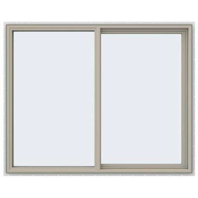 59.5 in. x 47.5 in. V-4500 Series Right-Hand Sliding Vinyl Window - Tan