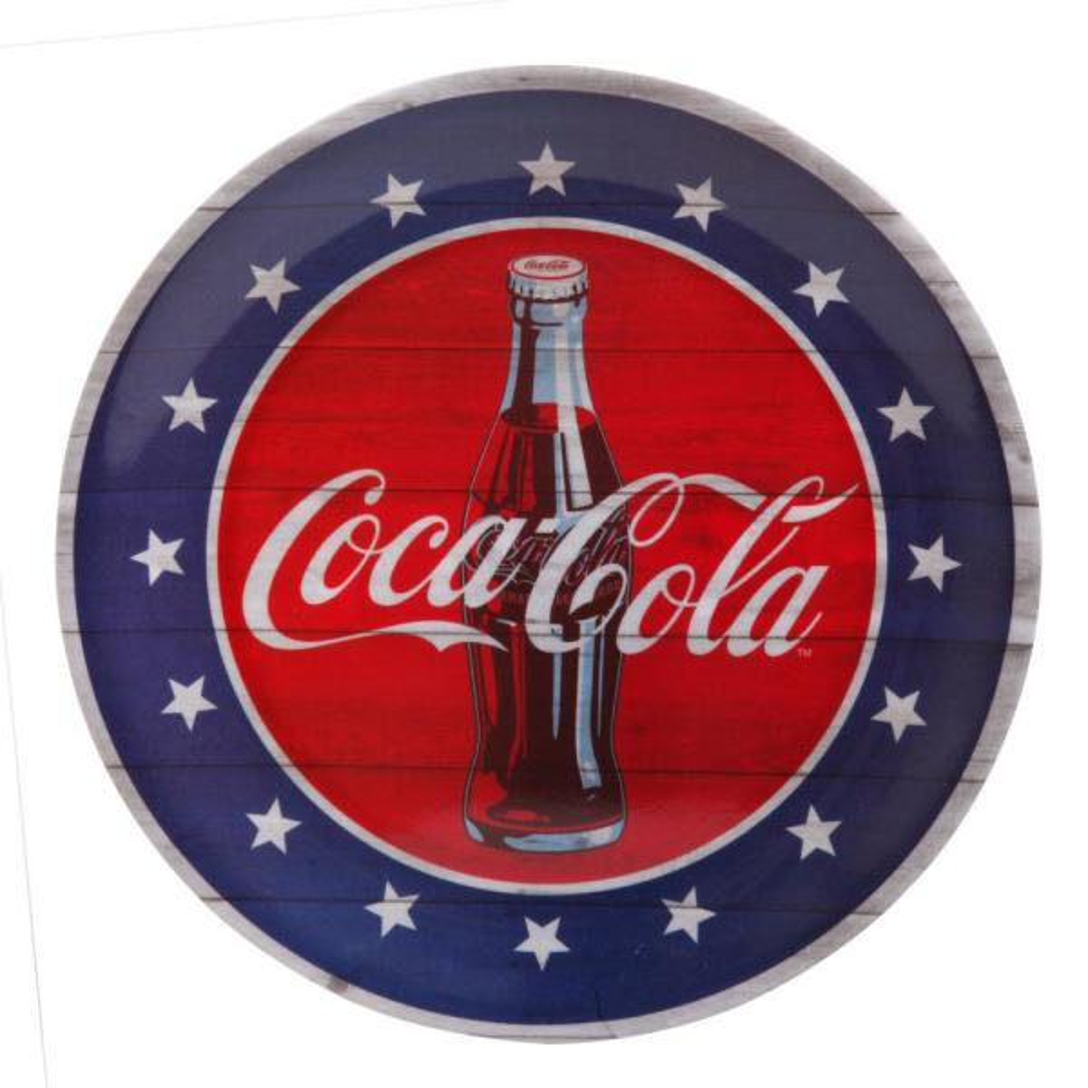 Coca-Cola Americana 10.5 in. Blue Dinner Plate (Set of 12)