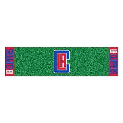 NBA Los Angeles Clippers 1 ft. 6 in. x 6 ft. Indoor 1-Hole Golf Practice Putting Green