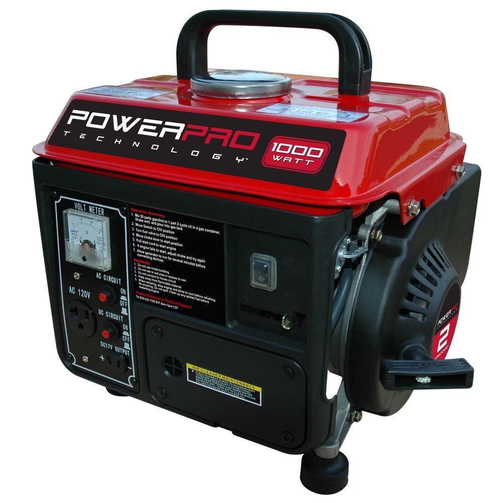 Power Pro Technology 1,000-Watt 2 Stroke Portable Generator-DISCONTINUED