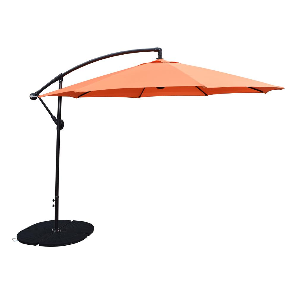 10 ft. Cantilever Tilt Patio Umbrella in Burnt Orange