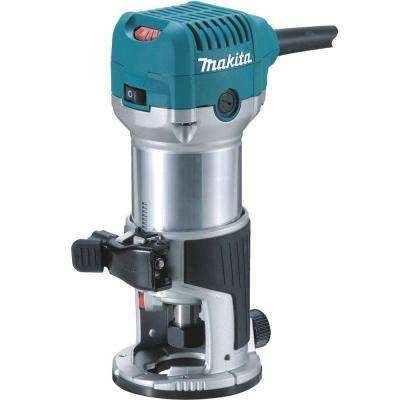 6.5 Amp 1-1/4 HP Corded Fixed Base Variable Speed Compact Router with Quick-Release