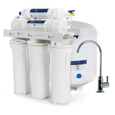 5-Stage Under-Sink Reverse Osmosis Water Filtration System with 80 GPD Membrane
