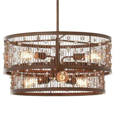 Colorado Springs 6-Light Chestnut Bronze Single Tier Chandelier
