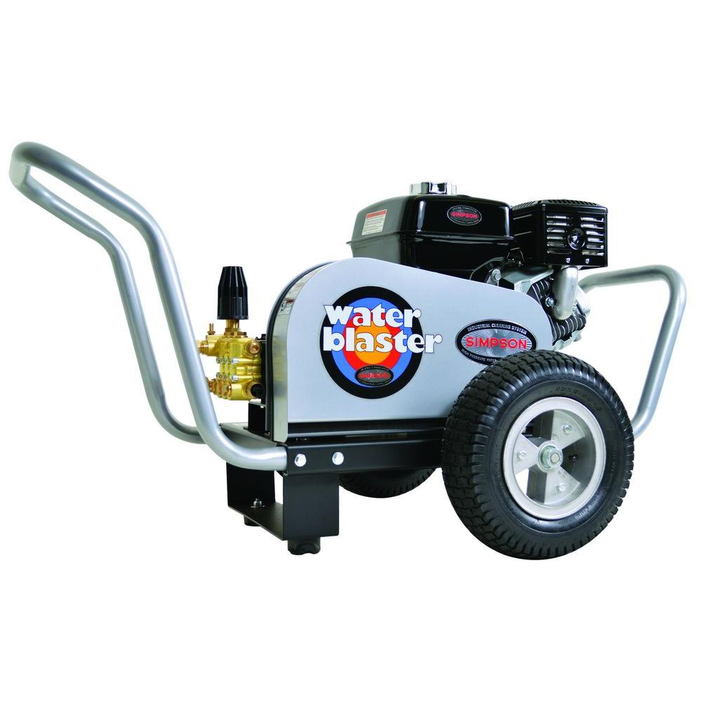 Simpson Water Blaster 3,200 psi 3.0 GPM Belt Drive Gas Pressure Washer Powered by Honda