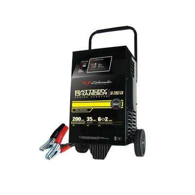 12-Volt Fully Automatic Wheel Battery Charger with Engine Start