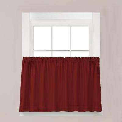 Holden Garnett Polyester Rod Pocket Tier Curtain - 57 in. W x 30 in. L