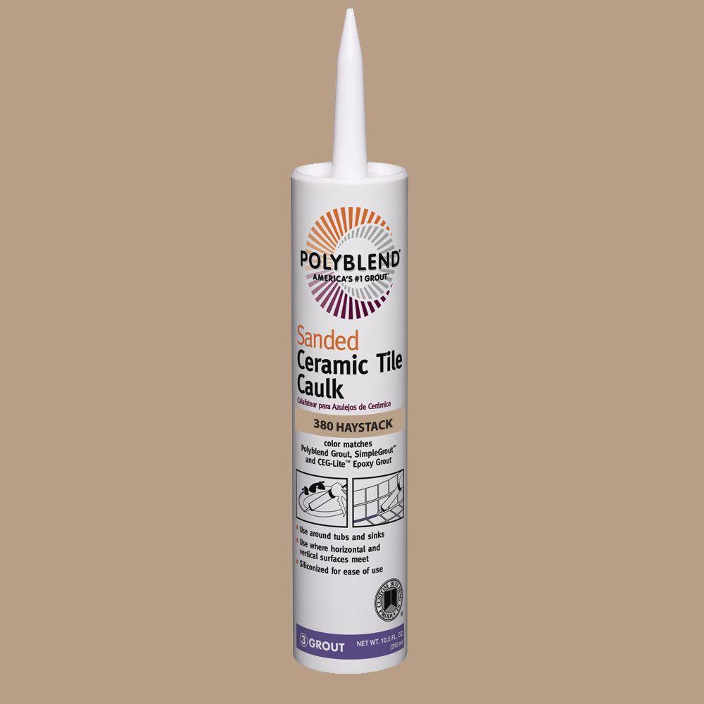 Custom Building Products Polyblend #380 Haystack 10.5 oz. Sanded Ceramic Tile Caulk