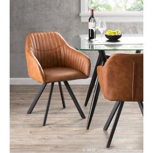 Phenomenal Lumisource Clubhouse Pleated Brown Faux Leather Chair Set Forskolin Free Trial Chair Design Images Forskolin Free Trialorg