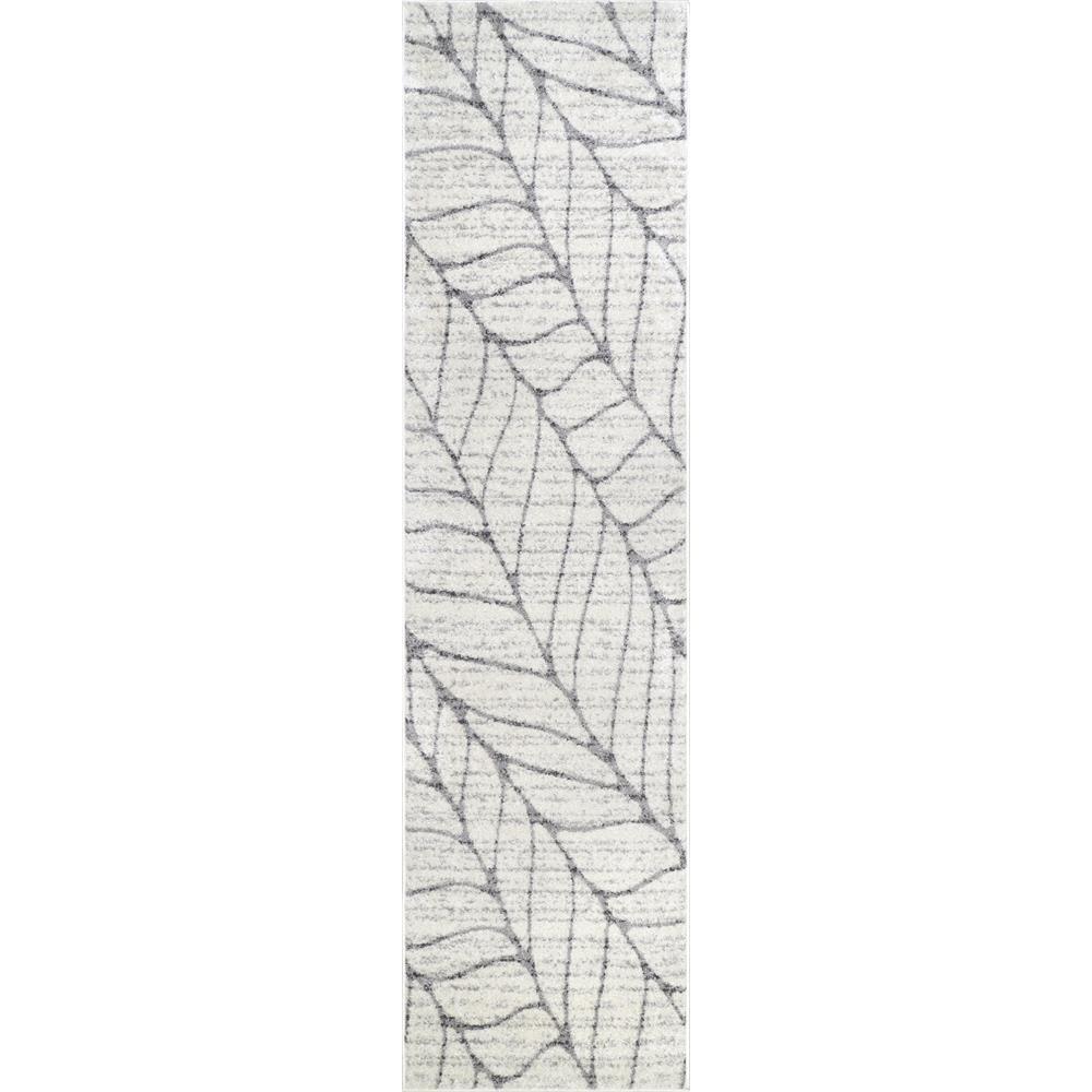 Boyce Light Grey 2 ft. 5 in. x 9 ft. 5 in. Runner Rug