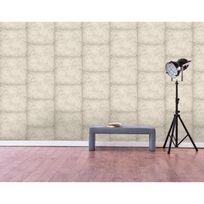 28.18 sq. ft. Cement Peel and Stick Wallpaper
