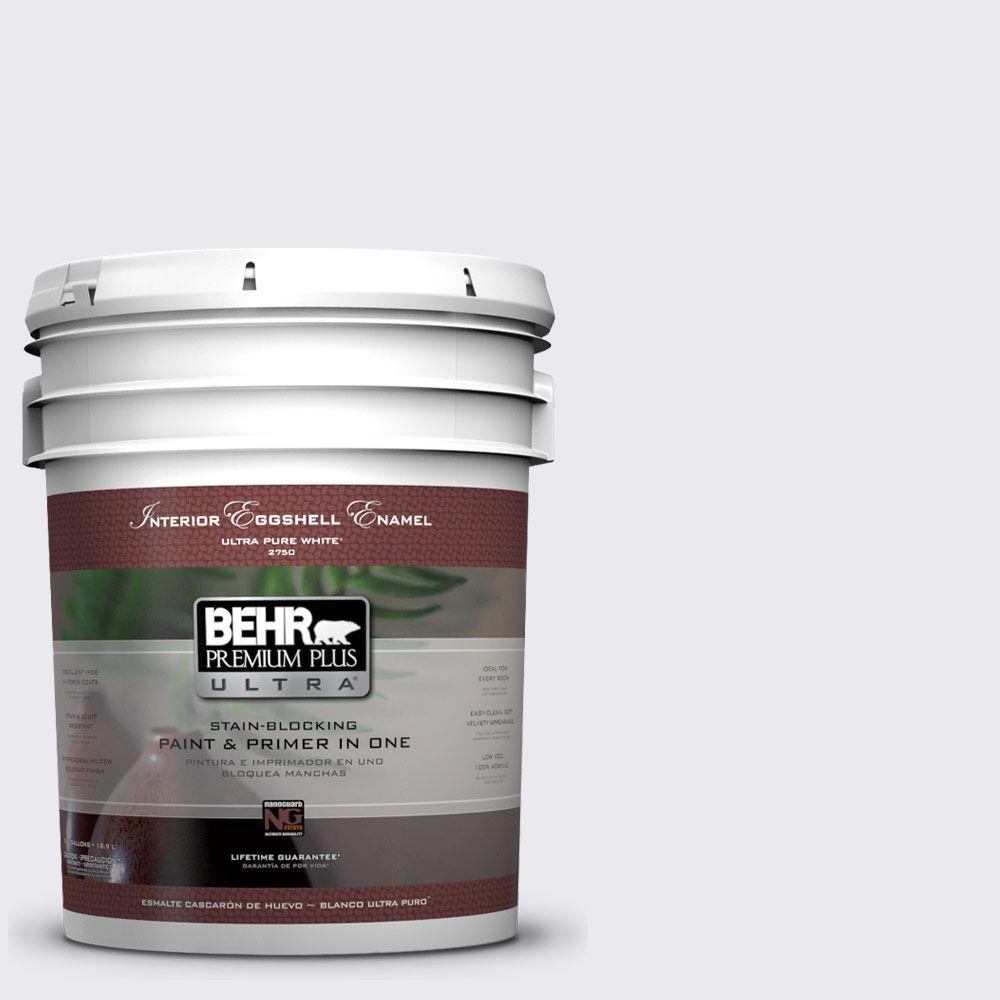 5 gal. #640E-1 Silver Chalice Eggshell Enamel Interior Paint and Primer