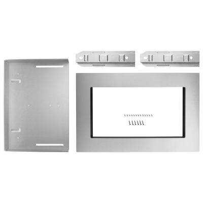 27 in. Microwave Trim Kit in Stainless Steel