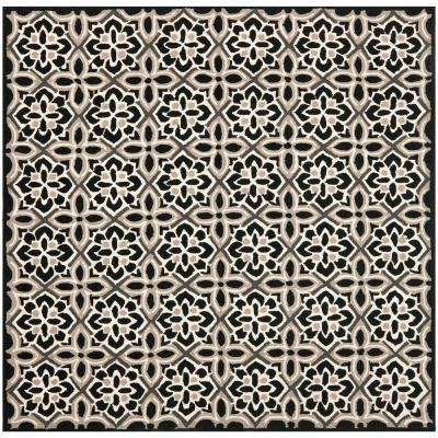 Square - Hooked - Black - Outdoor Rugs - Rugs - The Home Depot