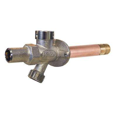 1/2 in. x 6 in. Brass MPT x SWT Loose Key Frost Free Anti-Siphon Outdoor Faucet Hydrant