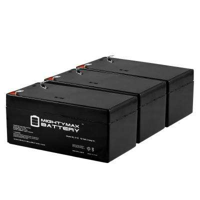 12- Volt 3 Ah Sealed Lead Acid Rechargeable F1 Terminal Battery (3-Pack)