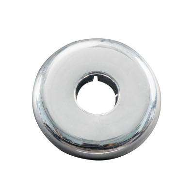 1/2 in. Iron Pipe Size Plastic Floor and Ceiling Plate, Chrome Finish