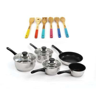 Vision 14-Piece Cookware Set with Wooden Utensils