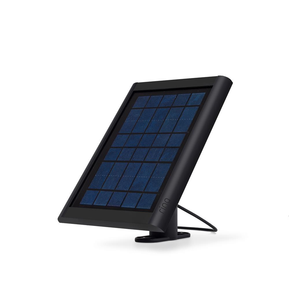 Solar Panel for Spotlight Cam Battery and Stick Up Cam, Black