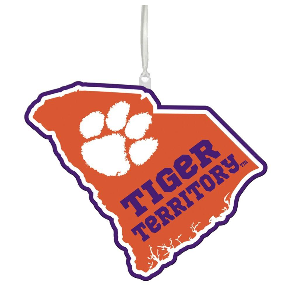 Team Sports America Clemson University 5 in. NCAA Team State Christmas Ornament
