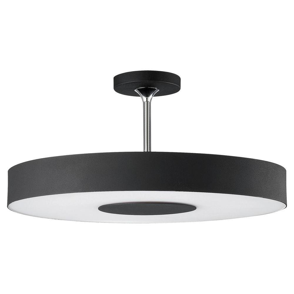 Philips Discus 1-Light Black Ceiling Fixture-302063048