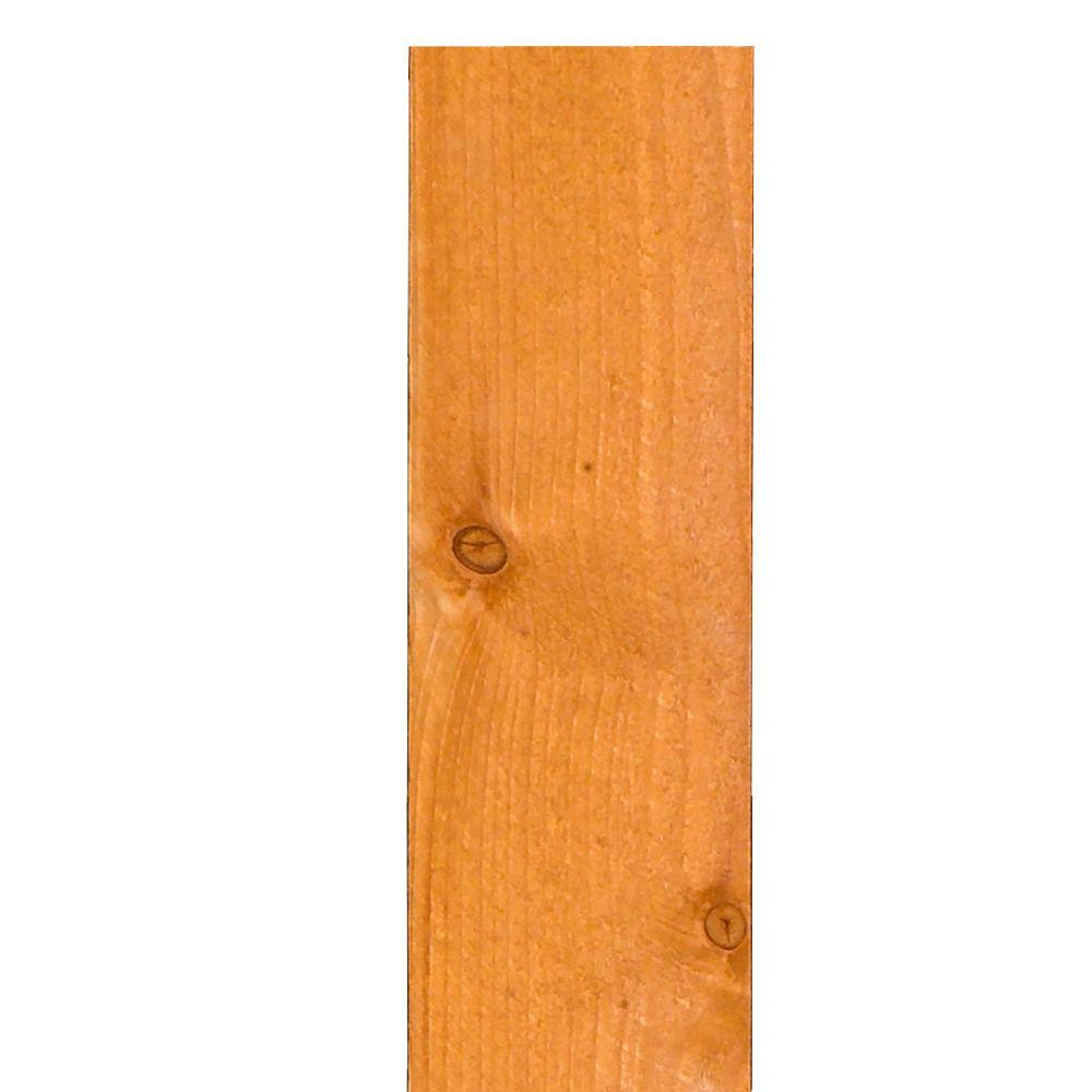 5/8 in. x 5-1/2 in. x 6 ft. Gold-Stained Fir Flat