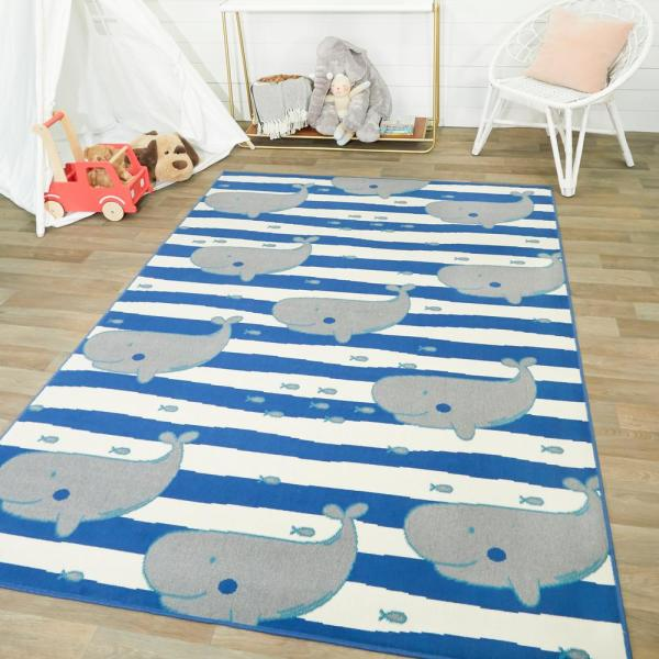 Balta Wonderful Whale Grey 4 Ft X 6 Ft Area Rug 3005683 The Home Depot