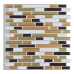 Art3d 12 in. x 12 in. Multi-color Self-Adhesive Decorative Wall Tile Backsplash for Kitchen (10-Pack)