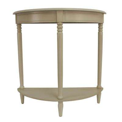 Simplicity Antique White Half Round Console Table