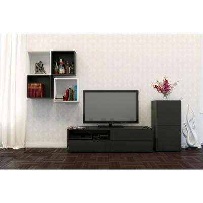 Avenue Black 1 Door Bookcase