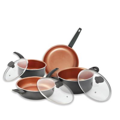 IKO 16-Piece Gray Copper with Collection Cookware Set