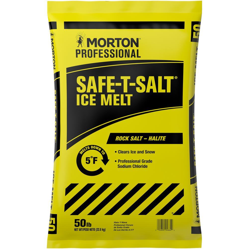 Unbranded 50 Lbs Rock Salt Bag 4664 The Home Depot