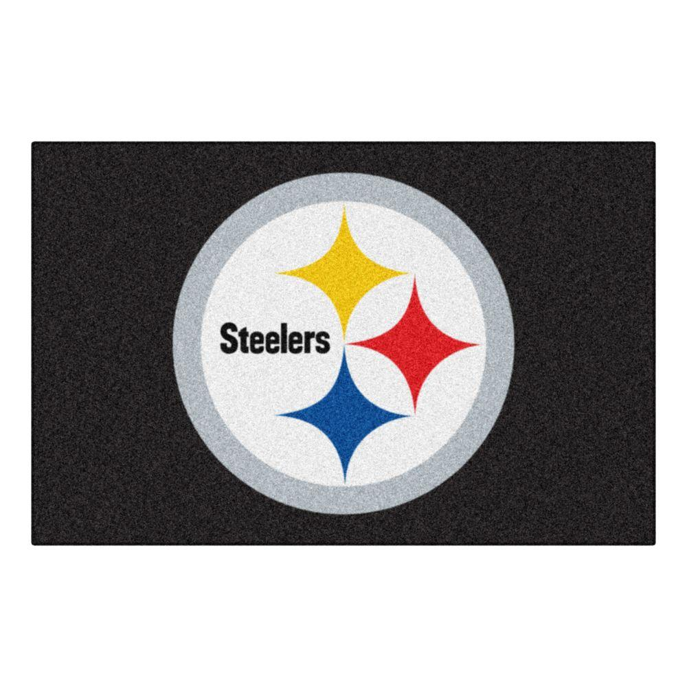 a0ebf6c7 FANMATS NFL Pittsburgh Steelers 19 in. x 30 in. Starter Mat Indoor Accent  Rug