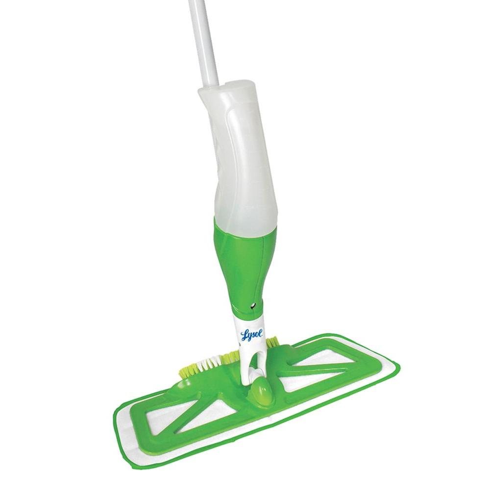 lysol microfiber spray mop with scrub brush 57079bcan1 the home depot